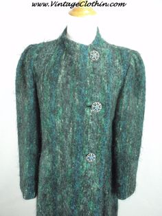 1980s does 1940s wool vintage coat