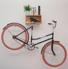 Items similar to Wooden Bike Rack (Saddle Sprocket) - all bike types on Etsy Wood Bike Rack, Diy Bike Rack, Bike Storage Rack, Bike Holder, Garage Storage, Bike Hanger Wall, Bicycle Hanger, Wall Mount Bike Rack, Bike Mount