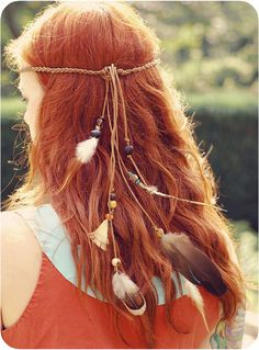 I love her hair color and headband! Bandanas, Feathered Hairstyles, Cool Hairstyles, Gypsy Hair, Boho Life, Strawberry Blonde, Dream Hair, Ginger Hair, Gypsy Style