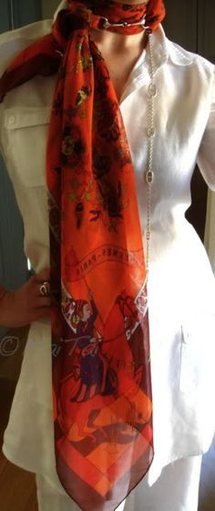Hermes Fantaisies Indiennes scarf. MaiTai hasTHE best blog ... all about her travels and styles a la Hermes.