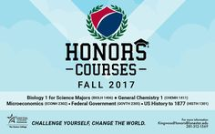 Honors Courses for Fall 2017 at #LSCKingwood