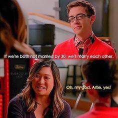 "#Glee 6x08 ""A Wedding"" - Artie and Tina"