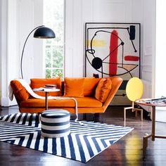 Formes, couleurs et motifs sont à l'honneur dans cette déco Pop Art. #vintage