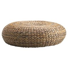 IKEA - ALSEDA, Stool, banana fibre, Hand-woven by experienced craftspeople, which makes each stool unique. easy to lift and move. Banana fibres may have dark spots; these have no effect on the strength of the material. Rattan Pouf, Rattan Ottoman, Ottomans, Armchairs, Banco Ikea, Pouf En Crochet, Knitted Pouf, Modern Kitchens