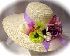 Lavender & Lime Tea Party Hat Mother of the by Marcellefinery, $58.00