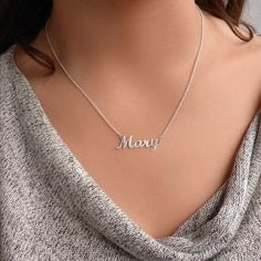 Stainless Steel Silver Gold Black Rose Gold Color Baby Name Sanjay Engraved Personalized Gifts For Son Daughter Boyfriend Girlfriend Initial Customizable Pendant Necklace Dog Tags 24 Ball Chain