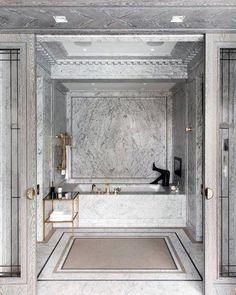 Bathroom decor for the master bathroom remodel. Discover master bathroom organization, bathroom decor tips, bathroom tile some ideas, bathroom paint colors, and more. Bathroom Layout, Bathroom Sets, Bathroom Faucets, Modern Bathroom, Bathroom Designs, Stone Bathroom, Bathtub Designs, Bathroom Black, Classic Bathroom