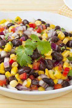 Black Bean and Corn Salad Recipe #SkinnyFoxDetox [ SkinnyFoxDetox.com ]