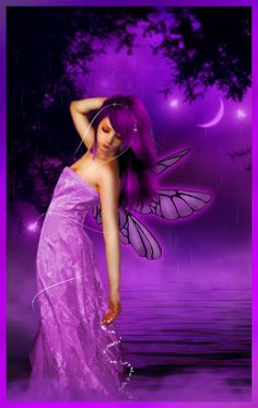 Some magically purple fairy dust anyone? Purple Love, All Things Purple, Shades Of Purple, Purple Hair, Pink Purple, Fairies Photos, Fairy Pictures, Love Fairy, Beautiful Fairies