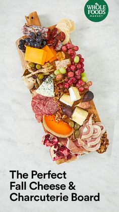 """Win """"Host of the Year"""" with a cheese and charcuterie board that is as pretty as it is delicious, featuring rich cheddars, savory olives and more. Fall Recipes, Holiday Recipes, Whole Food Recipes, Cooking Recipes, Appetizer Dips, Appetizers For Party, Appetizer Recipes, Fromage Cheese, Brunch"""