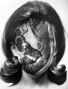 @Kristen Marie  Alfred Gescheidt - Untitled (1970) Gelatin silver print - Could be an interesting assignment- Meld two related but seemingly incongruous subjects together