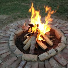 DIY Brick Fire Pit   DIY Fire Pits Design Ideas, Pictures, Remodel, and Decor