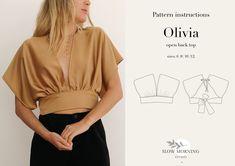 Motif Kimono, Kimono Pattern, Kimono Top, Sewing Patterns Free, Free Sewing, Pattern Sewing, Shirt Patterns, Dress Patterns, Tops Boho