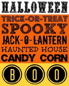 Free Printable Halloween Decor