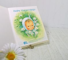 Vintage Baby Happenings Memento Book - Retro New Baby Growth Special Events Book for Recording Step By Step - New Old Stock Never Used Book by DivineOrders
