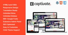 Captivate is a responsive HTML5 / CSS3 theme for corporate, business, portfolio and blog sites. This theme is very clean, modern design, easy for customizing and well documented, that is perfect for showcasing your work.