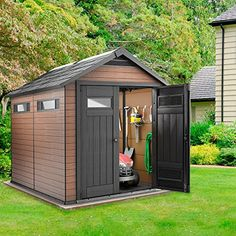 Garden Sheds 9 X 5 small outdoor storage sheds with modern styling. lifetime 8 x 5 ft