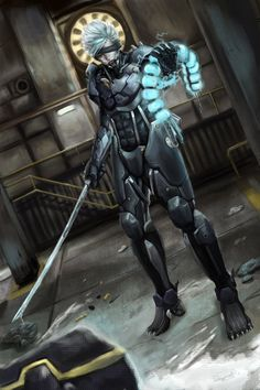 MGS Rising - Raiden by Raydiant on DeviantArt Mgs Rising, Jack Ripper, Metal Gear Games, Raiden Metal Gear, Metal Gear Rising, Kojima Productions, Grey Fox, Robot Design, Metal Gear Solid
