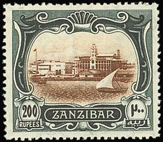Zanzibar Issue Issued Stamps brown and greenish black, well-centred, fine mint. Certificate S. Tanzania, Postage Stamps, Vintage World Maps, African, Commonwealth, Brown, Certificate, British, Fresh