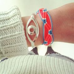 "The Double Wave | 15 ""Summer Camp Style"" Friendship Bracelets You Can Make Right Now"