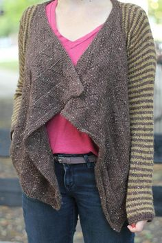 Eastwood Cardigan knitting pattern by Allyson Dykhuizen.