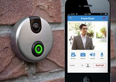 iDoorCam ~ Replaces your existing doorbell. Notifies you who's at your door even when you are not home.