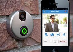 iDoorCam ~ Replaces your existing doorbell. Notifies you who's at your door even when you are not home.