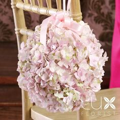 pink hydrangea Pomander Bouquet