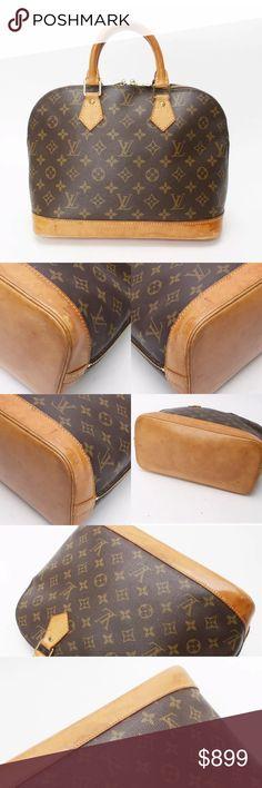 0e36571f61de Louis Vuitton Alma Handbag Monogram A vintage keepsake for everyday use.  Exterior  Honey Patina
