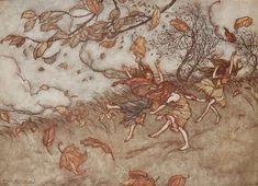"Arthur Rackham, ""Peter Pan in Kensington Gardens"""