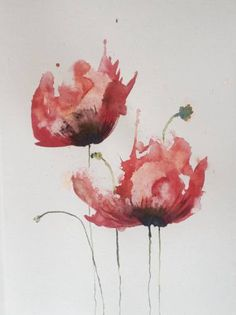 """Saatchi Art Artist Liz Da Cruz; Painting, """"Poppy flou"""" #art"""