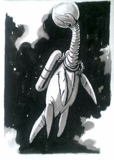 """Brynn Metheney told me to draw a Dino Astronaut, so I drew a marine reptile in a spacesuit."""