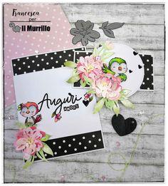 Progetto a cura di Francesca Ferrari. #handmadecards #handmadecardsideas #valentinecards #cardcompleanno #carduccellini #cards #mftstamps #myfavoritethings Ferrari, Challenges, Blog