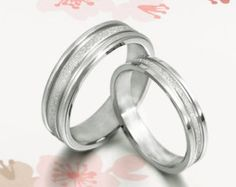 New His And Hers Wedding Band Set - Titanium Rings
