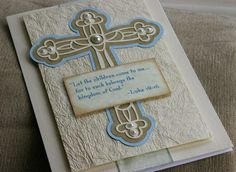 Baptism or Communion Card.. $7.00, via Etsy.