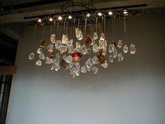 Glass Rock Chandelier by GoldenflowStudios on Etsy, $13000.00