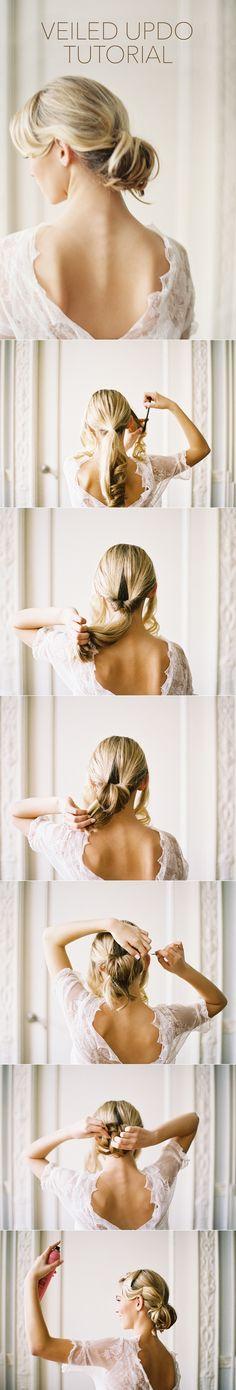 Vintage Wedding Veils and Wedding Hairstyles with Drop Veil Tutorial