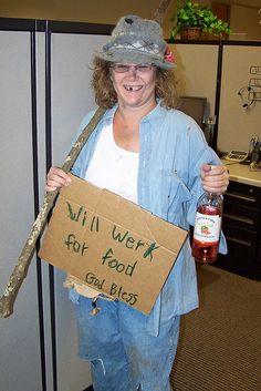 DIY Halloween Costume! Homeless person. It's easy and you ...