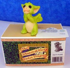 Whimsical World of Pocket Dragons PRETTY PLEASE  1997 Real Musgrave E10