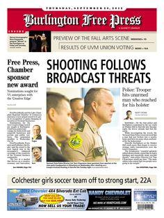 Today's Free Press front page www.burlingtonfreepress.com/