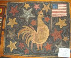 American Country Rugs by Lucille Festa (original design pattern) -- All American Rooster