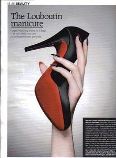 Louboutin Manicure: nail art con smalto sopra e sotto