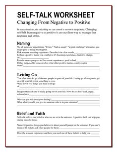 Understanding your own self talk. Is it positive or negative? Is it helping the situation? Is it helping you? Learn to recognise the signs & develop more robust, resilient & more positive self talk. Self talk worksheet Counseling Activities, School Counseling, Counseling Worksheets, Cbt Worksheets, Self Esteem Worksheets, Coping Skills Activities, Group Counseling, Coping Skills For Anxiety, Problem Solving