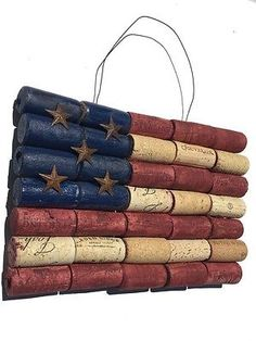 Patriotic American Flag Wine Cork Wall Art - 4th of July Antique Home Decor | Home & Garden, Holiday & Seasonal Décor, July 4th & Summer | eBay!