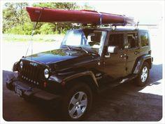 My 2007 Jeep Wrangler JK w/ Kayak. Locked & Loaded.