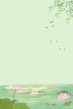 simple lotus lotus leaf pond Cute Pastel Wallpaper, Black Phone Wallpaper, Flower Wallpaper, Of Wallpaper, Tropical Wallpaper, Pastel Landscape, Vintage Landscape, Summer Landscape, Landscape Paintings