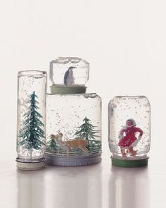 Homemade snow globes!  This would be a super fun project, and could be so easily personalized.