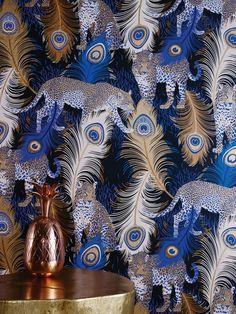 Matthew Williamson Leopardo Wallpaper Osborne And Little | TM Interiors Limited