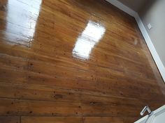 Pine Floorboards Stain Walnut  (Before/ After)