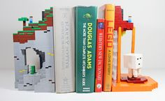 Minecraft, Lego and books.